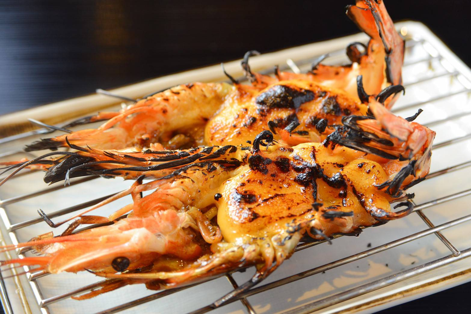 赤海老のウニソース焼き